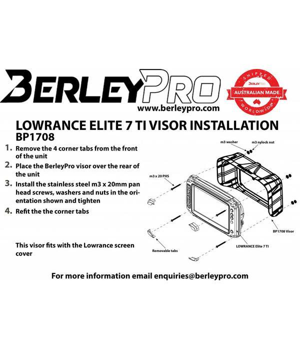 BerleyPro Lowrance Elite 7 Ti Visor