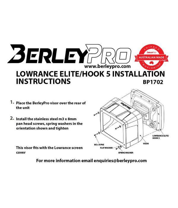 BerleyPro Lowrance Elite/Hook 5 Visor