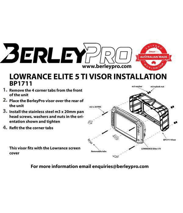 BerleyPro Lowrance Elite 5 Ti Visor