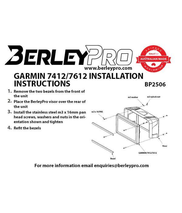 BerleyPro Garmin 7412/7612 Visor