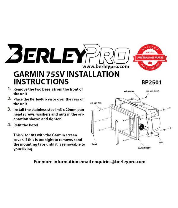 BerleyPro Garmin Echomap 7XX Sun Visor
