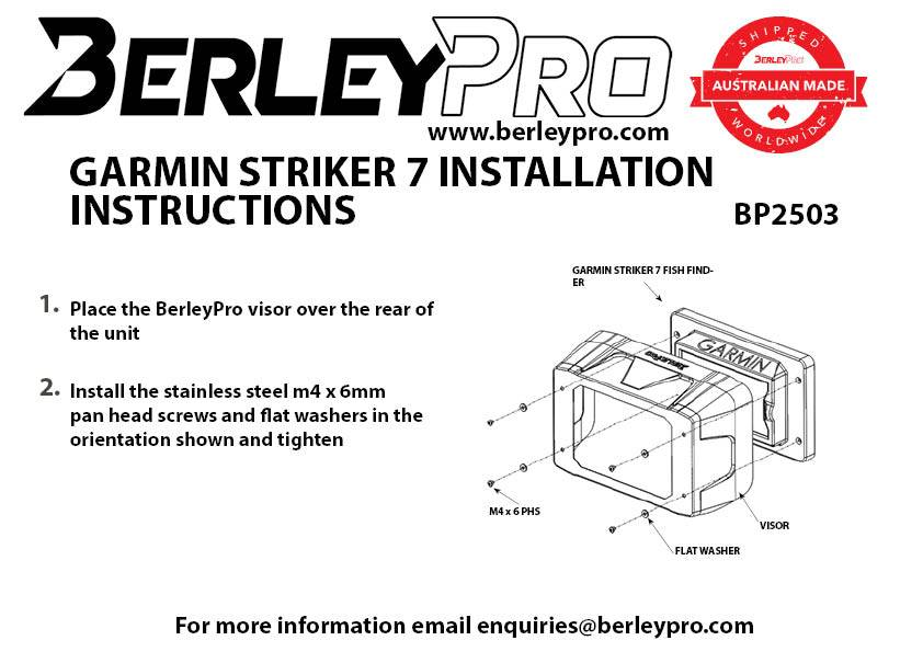 garmin striker 4 installation instructions