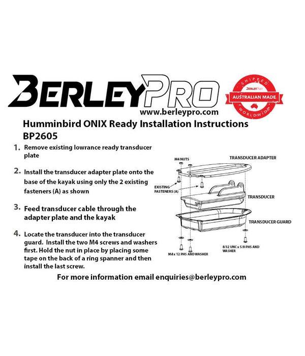 BerleyPro Humminbird Onix Transducer Mount (Hobie)