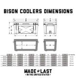 Bison Outdoors 100 QT Hard Cooler