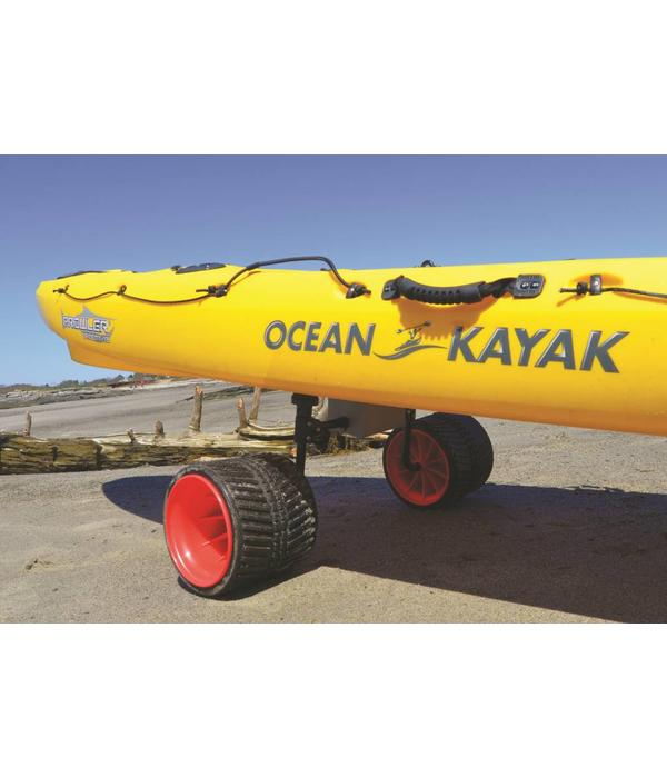 Malone (Discontinued) Xpress Scupper Kayak Cart (with no-flat Rover beach wheels)
