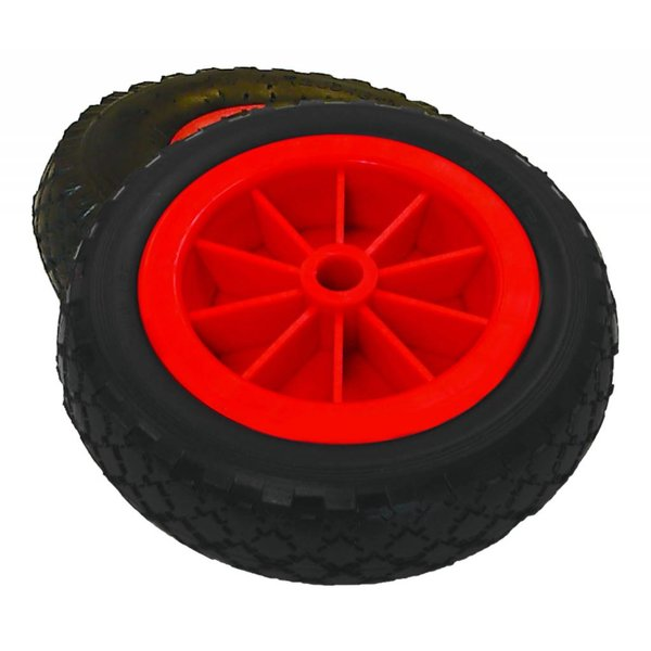 Airless No Flat Wheels 3'' X 10'' (set of 2)