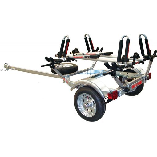 Malone MicroSport Trailer, 1-Spare Tire Kit, 2 - JPro2, 2-Tray Style Bike Racks