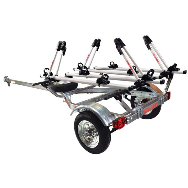MicroSport Trailer, 1-Spare Tire Kit, 4 - Tray Style Bike Racks