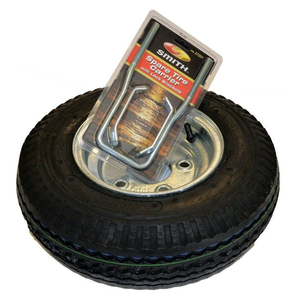 8'' Galvanized Spare Tire w/ Locking Attachment