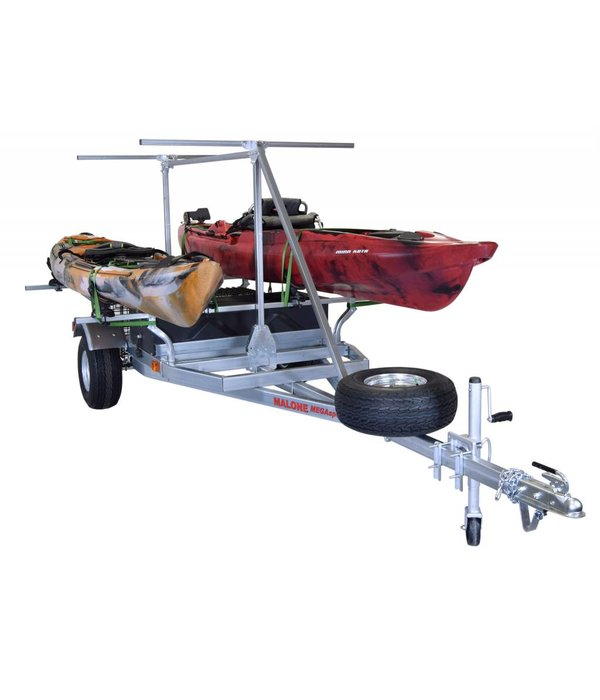 Malone MegaSport 2-Boat Trailer w/ Saddle Up Pro & 2nd Tier