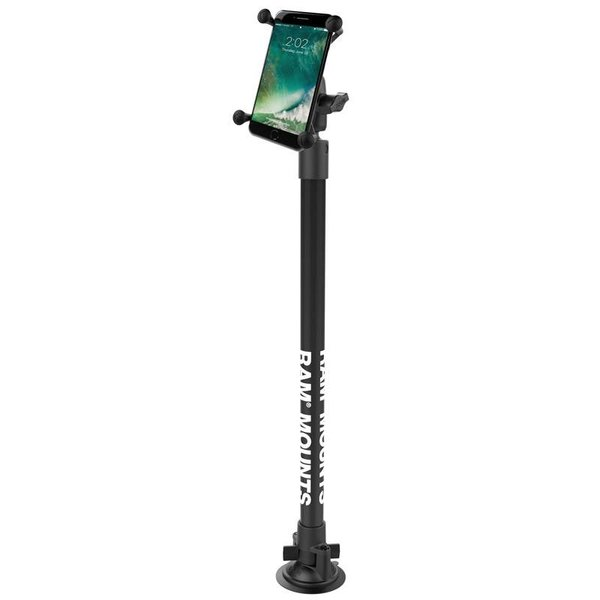 "Twist-Lock™ Suction Cup Mount with 18"" Pole and X-Grip® Large Phone Holder"