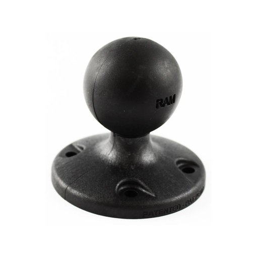 """RAM Mounts® 2.5"""" Composite Round Base with the AMPs Hole Pattern & 1.5"""" Ball"""