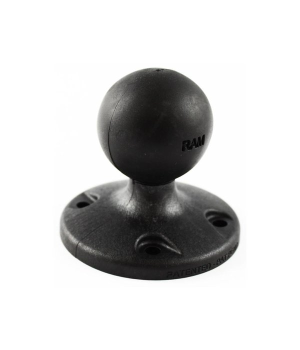 "RAM Mounts® 2.5"" Composite Round Base with the AMPs Hole Pattern & 1.5"" Ball"