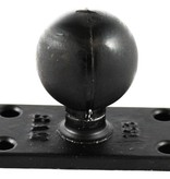 "RAM Mounts® C Size 1.5"" Ball on Rectangular Plate with 1"" x 2.5"" 4-Hole Pattern"