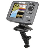 RAM Mounts® Track Ball™ Mount with Marine Electronic Plate for the Humminbird 100, 300, 500, 700 Series, Matrix Series and Lowrance Elite-5 Series
