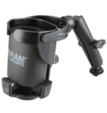 RAM Mounts® Level Cup™ XL with Long Double Socket Arm and Track Ball™ Base