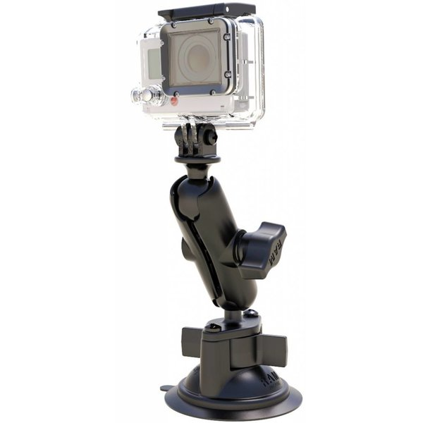 Twist-Lock™ Suction Cup Mount with Custom GoPro® Hero Adapter