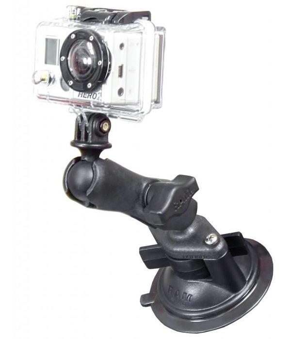 RAM Mounts® Composite Twist-Lock™ Suction Cup Mount with Custom GoPro® Hero Adapter