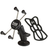 RAM Mounts® Flat Surface Mount with Universal X-Grip® Cell/iPhone Cradle