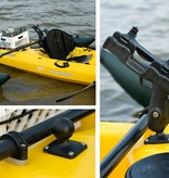 RAM Mounts® RAM-ROD® 2007 Fly Rod Jr. Fishing Rod Holder with Flat Surface Rectangle Base