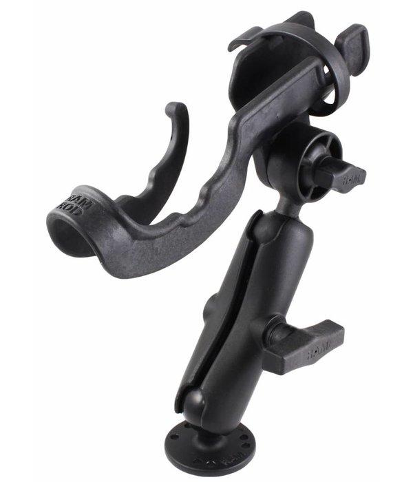 RAM Mounts® RAM-ROD® 2000 Fishing Rod Holder with RAM-ROD® Revolution Ratchet/Socket System and Round Flat Surface Base