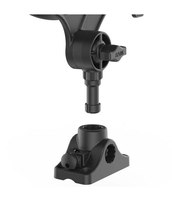 RAM Mounts® RAM-ROD® JR Fishing Rod Holder with Combination Bulkhead/Flat Surface Mounting Base