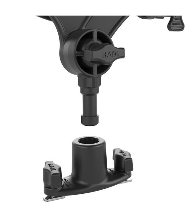RAM Mounts® RAM-ROD® JR Fishing Rod Holder with Spline Post and Track Base