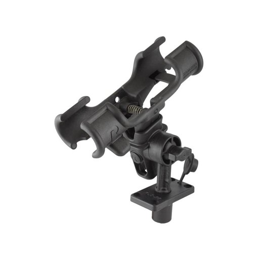 "RAM Mounts® RAM-ROD® Light-Speed™ Holder with 4"" Long Spline Post and Flush Mounting Base"