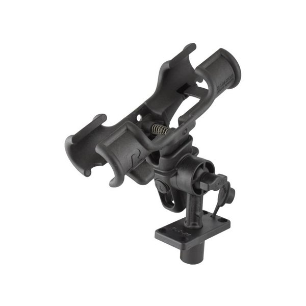 "RAM-ROD® Light-Speed™ Holder with 4"" Long Spline Post and Flush Mounting Base"