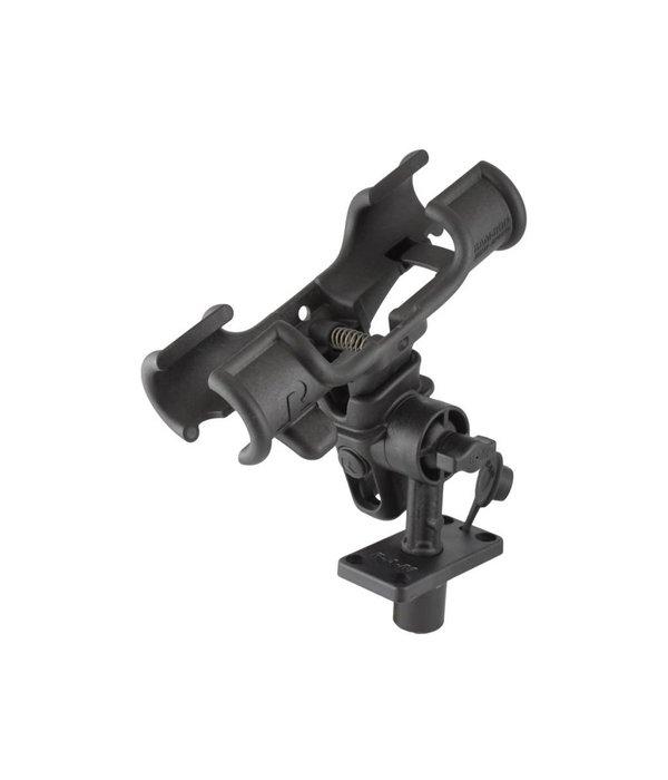"RAM Mounts® RAM-ROD® Light-Speed™ Holder with 4"" Long Spline Post and Flush Mounting Base"