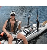 RAM Mounts® RAM-TUBE™ 2008 Fishing Rod Holder with Round Flat Surface Base