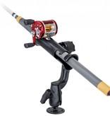 RAM Mounts® RAM Tube Jr.™ Fishing Rod Holder with RAM-ROD® Revolution Ratchet/Socket System and Round Base
