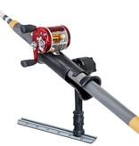 "RAM Mounts® RAM Tube Jr.™ Fishing Rod Holder with Medium 6"" Length Spline Post & Adapt-A-Post™ Track Mounting Base"