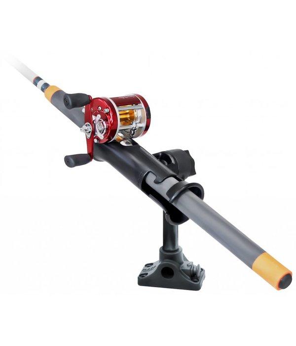 "RAM Mounts® RAM Tube Jr.™ Fishing Rod Holder with 6"" Length Spline Post, Combination Bulkhead/Flat Surface Base & Plunger"