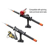 "RAM Mounts® RAM Tube Jr.™ Fishing Rod Holder with 4"" Length Spline Post, Combination Bulkhead/Flat Surface Base & Plunger"