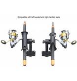 """RAM Mounts® RAM Tube Jr.™ Fishing Rod Holder with Short 4"""" Length Spline Post & Bulkhead Mounting Base"""