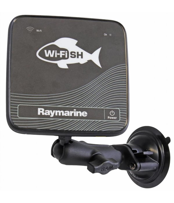 """RAM Mounts® RAM Suction Cup Mount with 1"""" Ball, including M6 X 30 SS HEX Head Bolt, for Raymarine Dragonfly-4/5 & WiFish Devices"""