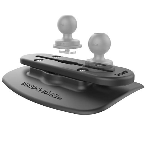 RAM Mounts Black Bond-A-Base™ For Inflatable Rafts with Tough-Track™