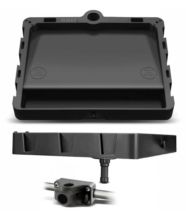 RAM Mounts® STACK-N-STOW™ Bait Board with Combination Bulkhead Rail Adapter Kit