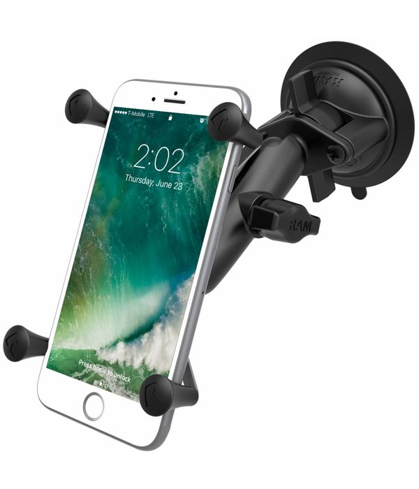 RAM Mounts® Twist-Lock™ Suction Cup Mount with Universal X-Grip® Large Phone/Phablet Cradle