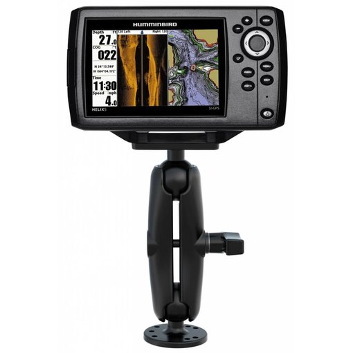 """RAM Mounts® 1.5"""" Ball Mount with 2.5"""" Round Base & 1.5"""" x 3"""" Plate for the Humminbird Helix 5 ONLY"""