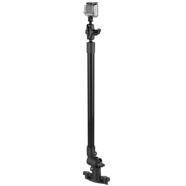 Tough-Pole™ Action Camera Mount with Single Pipe and Adjustable Track Base
