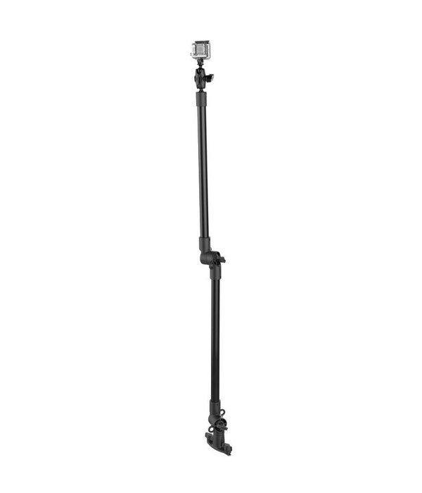 RAM Mounts® Tough-Pole™ Action Camera Mount with Double Pipe and Adjustable Track Base