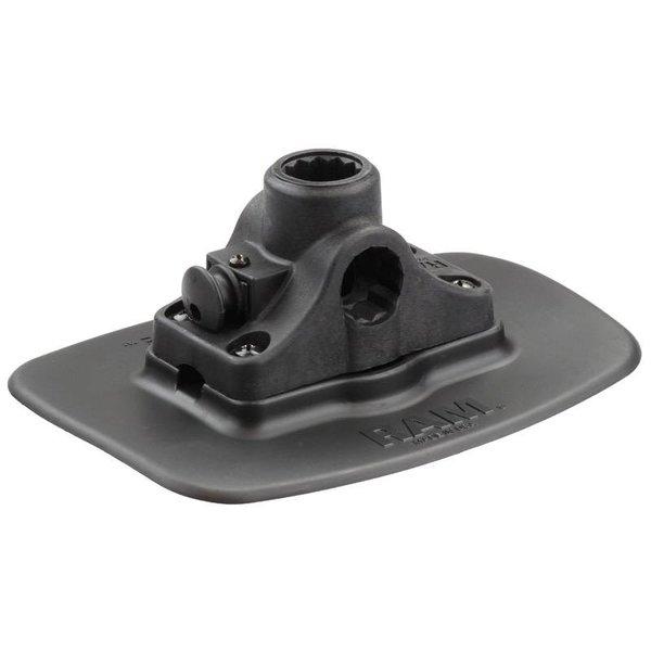 Black Bond-A-Base™ with RAM-ROD® Post/Spline Receiver