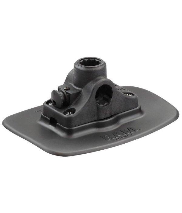 RAM Mounts® Black Bond-A-Base™ with RAM-ROD® Post/Spline Receiver