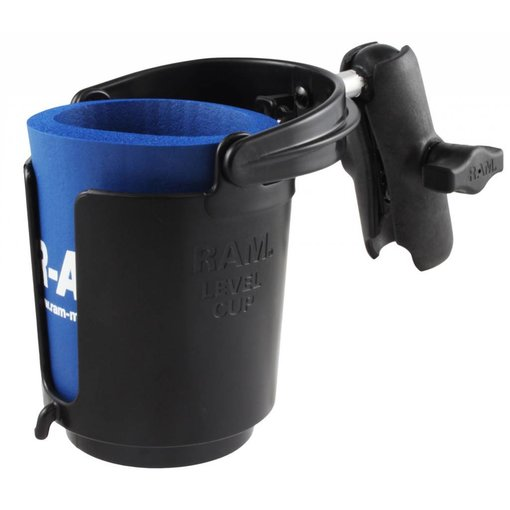 RAM Mounts® Level Cup™ Drink Holder with Koozie & Double Socket Arm