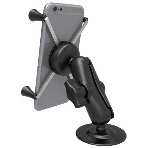 RAM Mounts® Flex Adhesive Mount with Universal X-Grip® Phone/Phablet Cradle