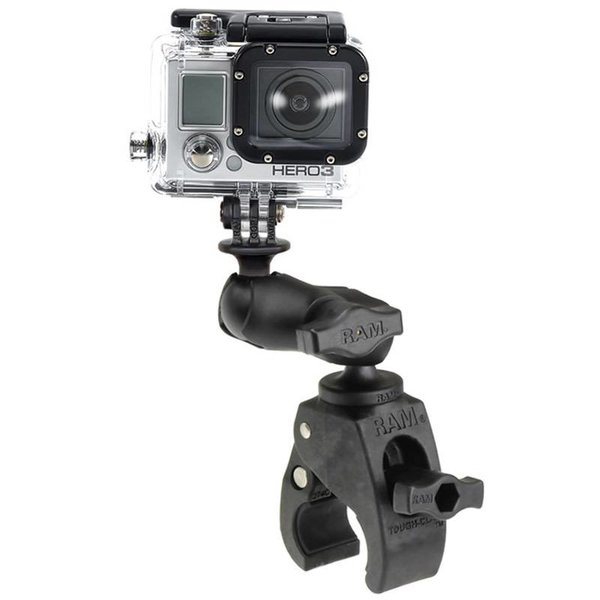 Small Tough-Claw™ Base with Short Double Socket Arm and GoPro®/Action Camera Mount