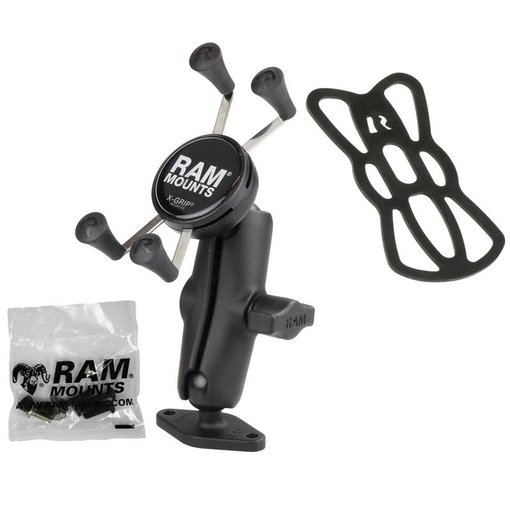 "RAM Mounts® 1"" Ball Mount with Diamond Base & Universal X-Grip® Cell/iPhone Cradle"
