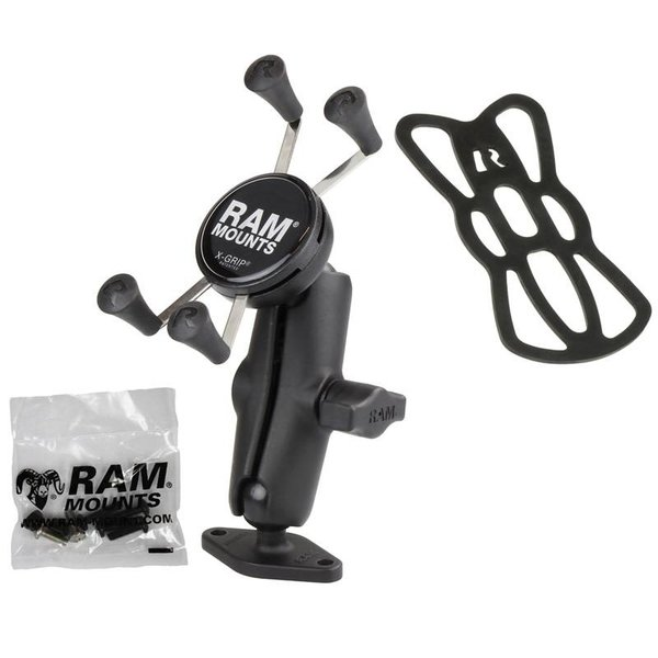 """1"""" Ball Mount with Diamond Base & Universal X-Grip® Cell/iPhone Cradle"""